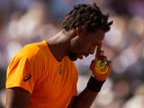 Gael Monfils during his French Open match against Stanislas Wawrinka on June 5, 2017