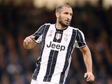 Giorgio Chiellini of Juventus during the Champions League final against Real Madrid on June 3, 2017