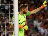 Atletico Madrid's Jan Oblak in action against Barcelona on September 21, 2016
