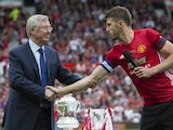 Michael Carrick and Sir Alex Ferguson at the former's testimonial match on June 4, 2017