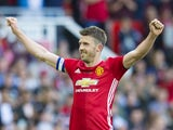Michael Carrick celebrates scoring during his testimonial match on June 4, 2017