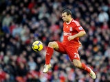 Javier Mascherano in action for Liverpool