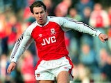 Paul Merson in action for Arsenal