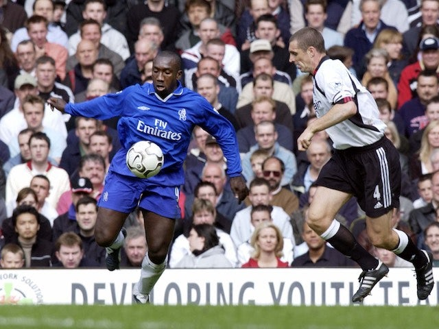 Jimmy Floyd Hasselbaink in action for Chelsea in 2003