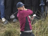 Jordan Spieth tees off at The Open on July 21, 2017