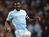 Kolo Toure in action for Manchester City