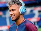 Neymar wearing Beats headphones IN A PSG SHIRT