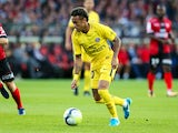 Neymar in action during the Ligue 1 match between Guingamp and Paris Saint-Germain on August 13, 2017