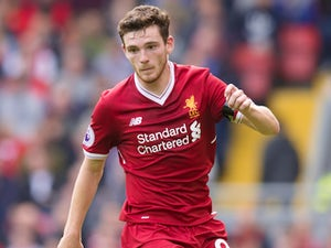 Andrew Robertson in action during the Premier League game between Liverpool and Crystal Palace on August 19, 2017