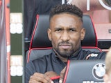 Jermain Defoe on the bench during the Premier League game between Bournemouth and Watford on August 19, 2017