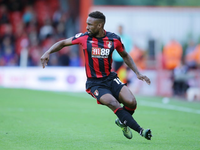 Jermain Defoe in action during the Premier League game between Bournemouth and Watford on August 19, 2017