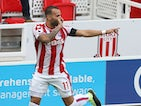 Jese celebrates during the Premier League game between Stoke City and Arsenal on August 19, 2017