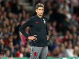 Mauricio Pellegrino watches on helplessly during the EFL Cup game between Southampton and Wolverhampton Wanderers on August 23, 2017