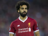 Mohamed Salah in action during the Champions League playoff between Liverpool and Hoffenheim on August 23, 2017