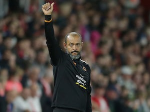 The mighty Nuno Espirito Santo watches on during the EFL Cup game between Southampton and Wolverhampton Wanderers on August 23, 2017