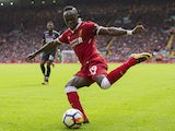 Sadio Mane in action during the Premier League game between Liverpool and Crystal Palace on August 19, 2017