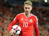 Aaron Ramsey in action during the World Cup qualifier between Wales and Austria on September 2, 2017
