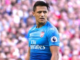 Alexis Sanchez looking unhappy during the Premier League game between Liverpool and Arsenal on August 27, 2017