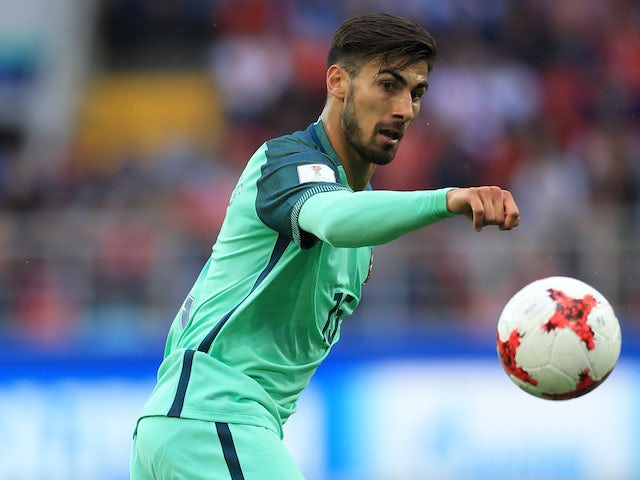 Andre Gomes in action for Portugal in June 2017