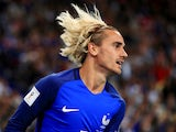 Antoine Griezmann flaunts his locks during the World Cup qualifier between France and the Netherlands on August 31, 2017