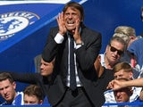 Antonio Conte orders the gabagool during the Premier League game between Chelsea and Everton on August 27, 2017