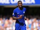 Antonio Rudiger in action during the Premier League game between Chelsea and Everton on August 27, 2017