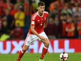 Ben Davies in action during the World Cup qualifier between Wales and Austria on September 2, 2017