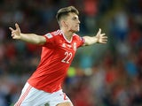 Wales forward Ben Woodburn scores on his international debut against Austria at the Principality Stadium on September 2, 2017