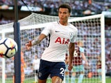 Dele Alli in action during the Premier League game between Tottenham Hotspur and Burnley on August 27, 2017