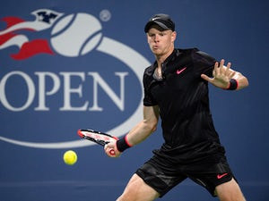 Kyle Edmund in action during the second round of the US Open on August 30, 2017