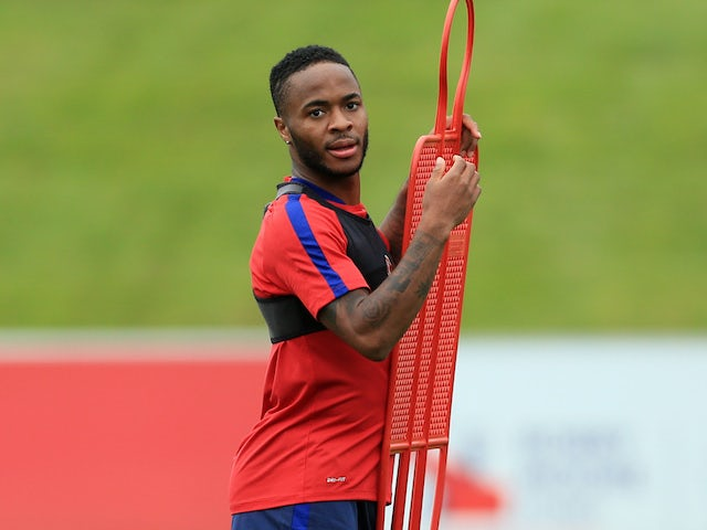 Raheem Sterling joins up with England squad
