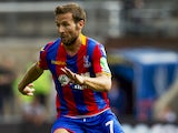 Yohan Cabaye in action during the Premier League game between Crystal Palace and Swansea City on August 26, 2017