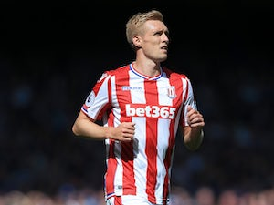 Stoke City midfielder Darren Fletcher in action during his side's Premier League clash with Everton