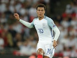 Dele Alli in action during England's World Cup qualifying win over Slovakia on September 4, 2017