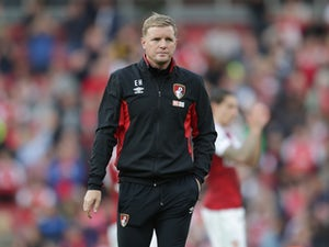 A dejected Eddie Howe after the Premier League game between Arsenal and Bournemouth on September 9, 2017