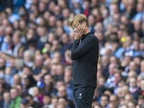 Jurgen Klopp is not happy in this moment during the Premier League game between Manchester City and Liverpool on September 9, 2017
