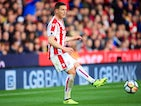 Kevin Wimmer in action during the Premier League game between Stoke City and Manchester United on September 9, 2017