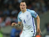 Phil Jones in action during the World Cup qualifier between England and Slovakia on September 4, 2017