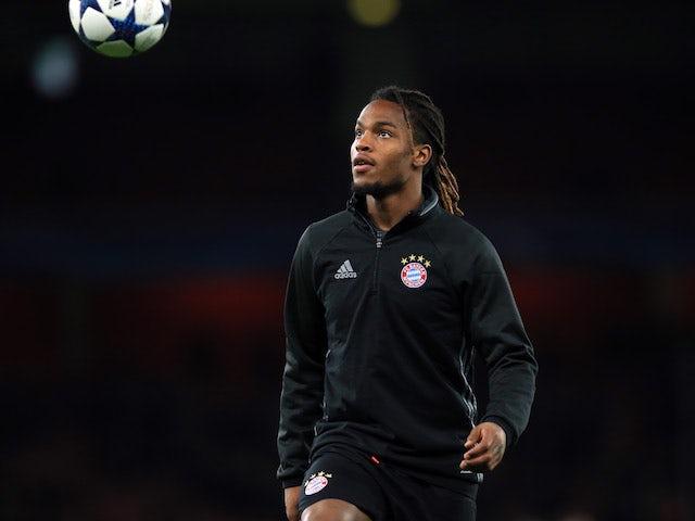 Bayern Munich midfielder Renato Sanches warms up