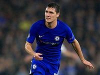 Andreas Christensen in action during the Champions League game between Chelsea and Qarabag on September 12, 2017