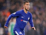Eden Hazard in action during the Champions League game between Chelsea and Qarabag on September 12, 2017