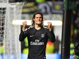 Paris Saint-Germain striker Edinson Cavani celebrates after scoring during the Champions League win over Celtic on September 12, 2017