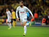 Tottenham Hotspur striker Fernando Llorente in action for his side during their Champions League Group H clash with Borussia Dortmund on September 13, 2017