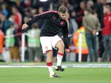 Jack Wilshere warms up ahead of the Europa League game between Arsenal and FC Koln on September 14, 2017