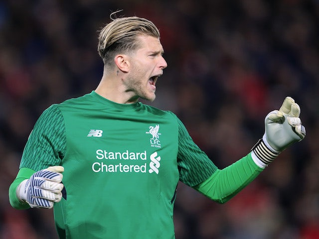 Liverpool goalkeeper Loris Karius in action for his side during their Champions League Group E clash with Sevilla at Anfield on September 13, 2017