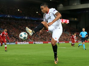 Luis Muriel in action during the Champions League game between Liverpool and Sevilla on September 13, 2017