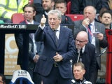 Roy Hodgson inexplicably gives the thumbs-up during the Premier League game between Crystal Palace and Southampton on September 16, 2017