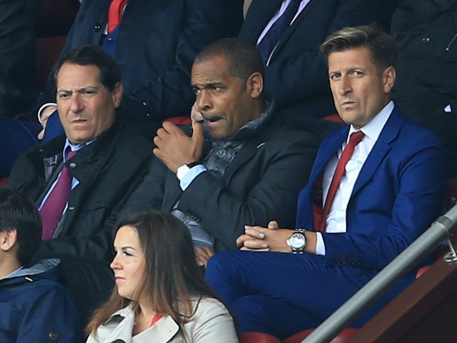 The Crystal Palace board look on during the team's 1-0 defeat to Burnley at Turf Moor on September 10, 2017