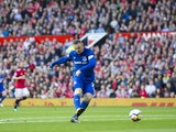 Wayne Rooney takes a shot during the Premier League game between Manchester United and Everton on September 17, 2017