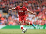 Liverpool striker Daniel Sturridge in action during his side's Premier League clash with Middlesbrough on May 21, 2017